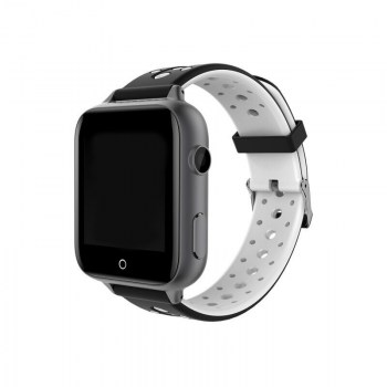 black case, black+white strap